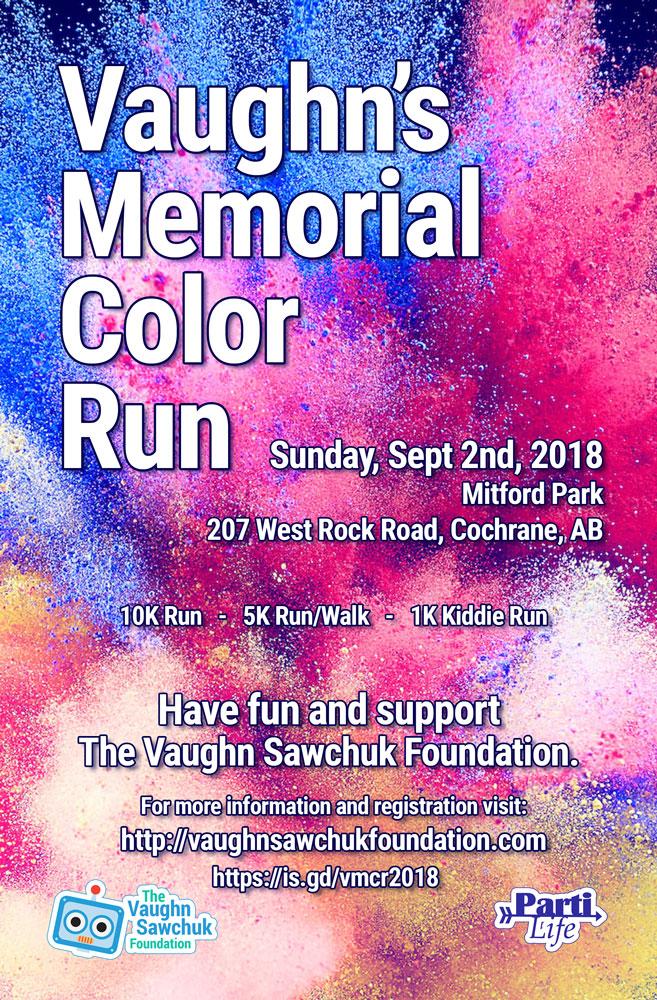 2nd Annual VAUGHN'S MEMORIAL COLOR RUN!