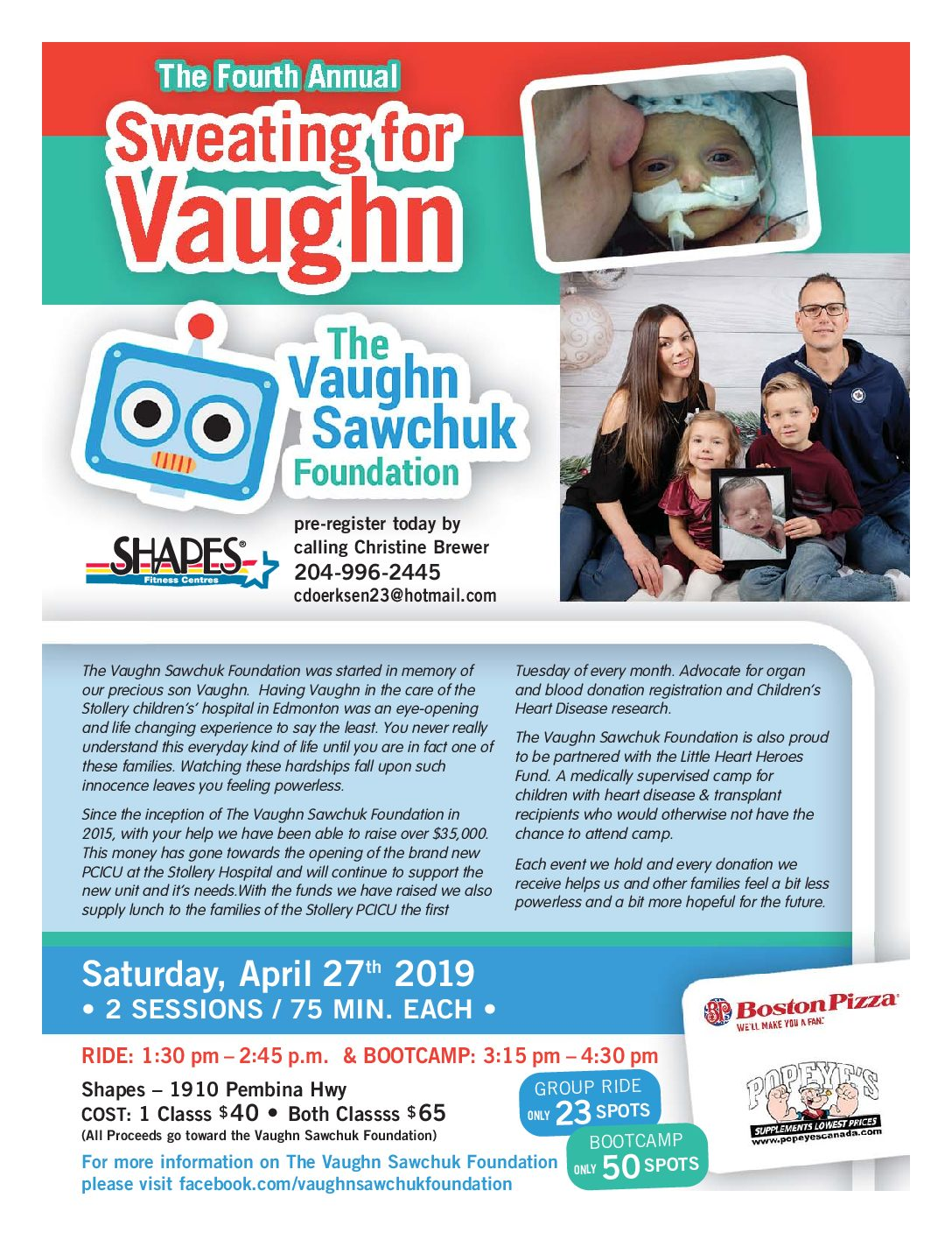 4th Annual Sweating for Vaughn!